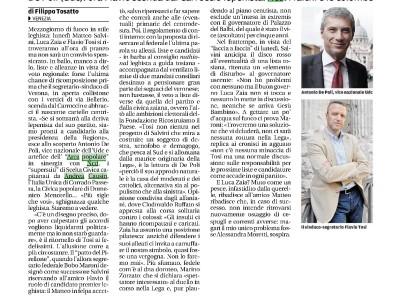 Nuova Venezia: I Centristi a Tosi, pronti a candidarti Presidente