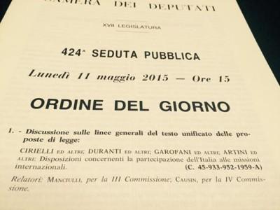 """Intervento in aula sul testo unificato """"partecipazione dell'Italia alle missioni internazionali"""""""