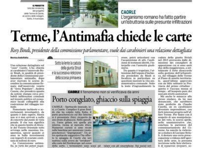 Gazzettino: Terme l'antimafia chiede le carte