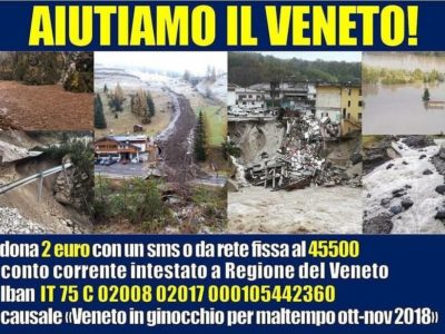 Emendamento al DL Genova per aiutare il Veneto devastato dal maltempo
