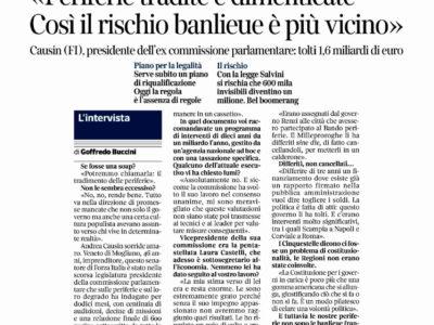 Periferie tradite e dimenticate intervista sul Corriere della Sera