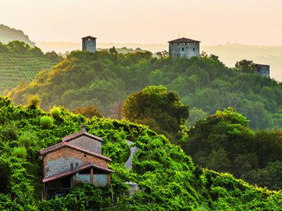 La zona del prosecco di Valdobbiadene e Conegliano siti dell'UNESCO
